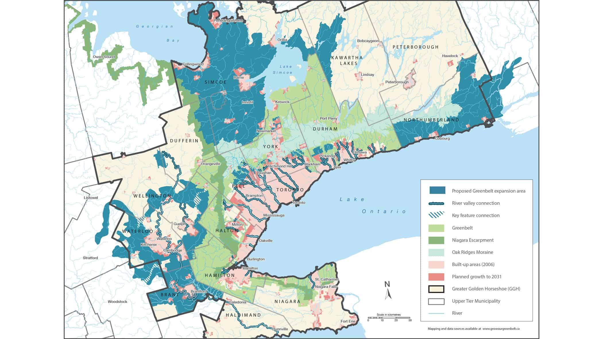 Ontario greenbelt expansion proposal 2017