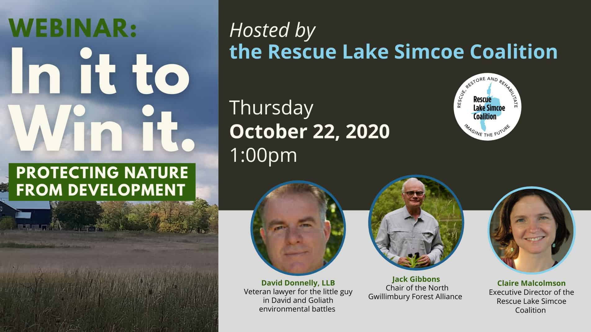 In it to Win it; protecting nature from development webinar announcement