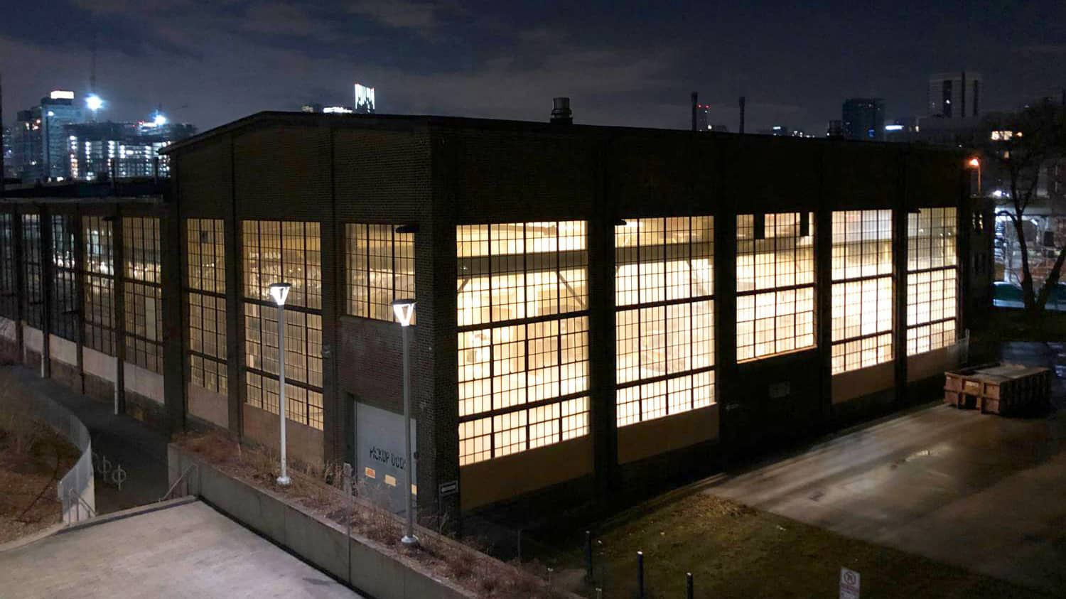 The Foundry at night