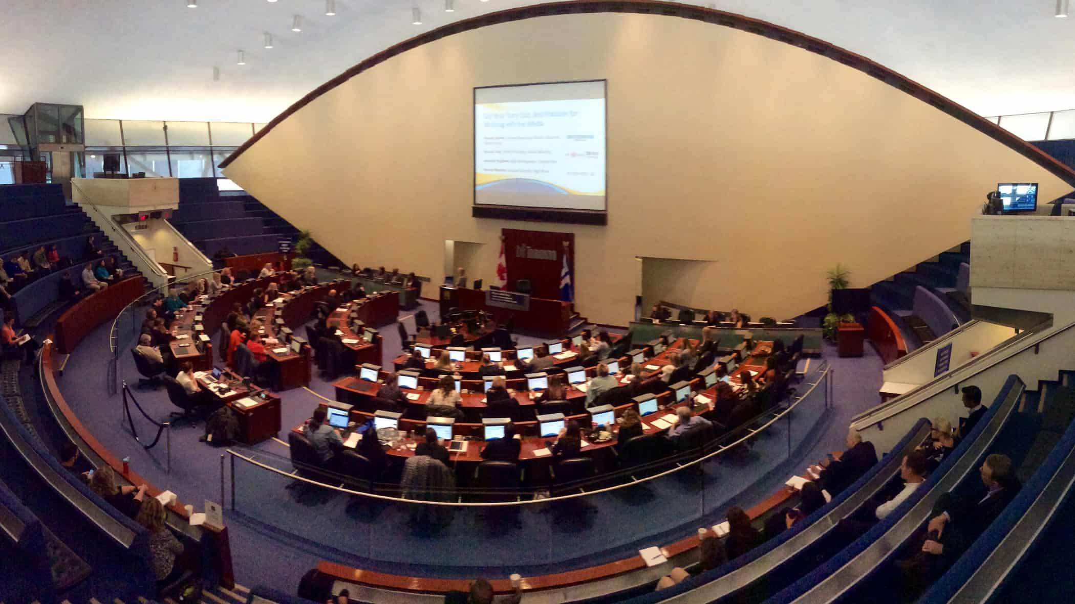 Toronto City Hall council chamber